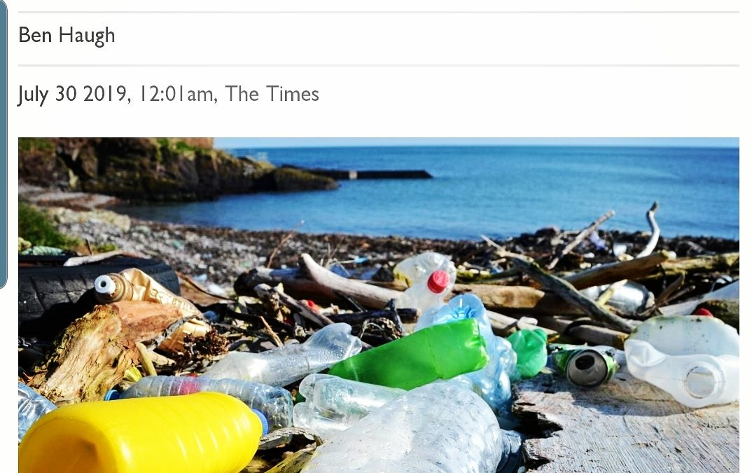 Plastic waste found in Ireland